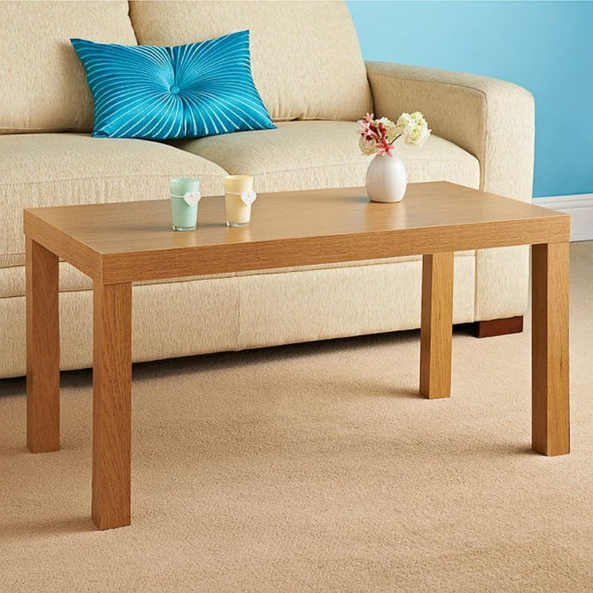 Large Rectangle Oak Effect Side or Coffee Table